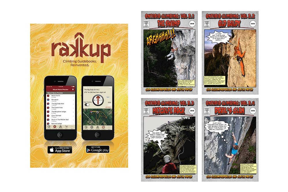 Free rakkup digital guides for the 2018 Beaver Valley Climbing Festival