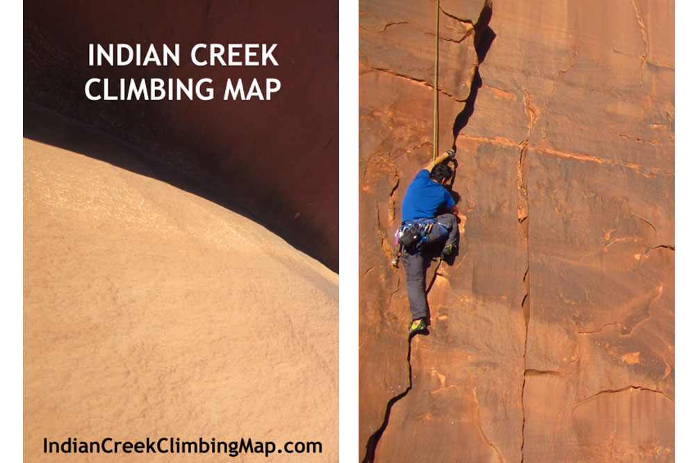 Indian Creek Climbing Map